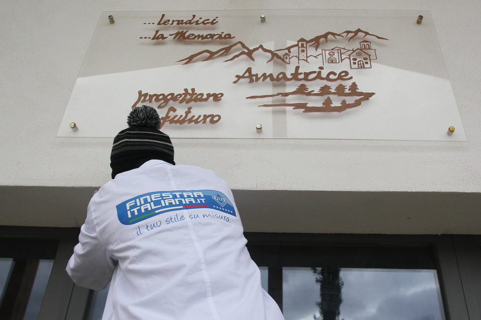 VEKA per il sociale – Finestra Italiana dona i nuovi infissi per il museo civico di Amatrice