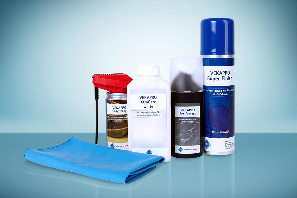 VEKA lancia la sua gamma di pulizia e cura per le finestre in PVC