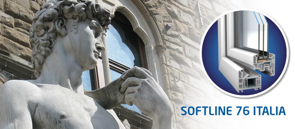 SOFTLINE 76 ITALIA - estetica italiana e qualità tedesca per il nuovo profilo in esclusiva Finestraitaliana